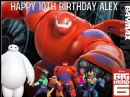 A4 Big Hero 6 Baymax Personalised Edible Icing or Wafer Birthday Cake Topper